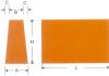 Gạch chịu lửa côn nằm/ côn dao/ H20 H21 65/55mm or 65/45mm